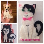 Custom Felt Cat or Dog Ornament/Magnet