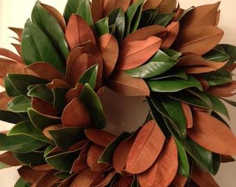 Handmade Magnolia Wreath 18-20 inches- Fall