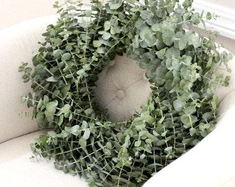 "Fresh Baby Blue Eucalyptus Wreath- 20"""