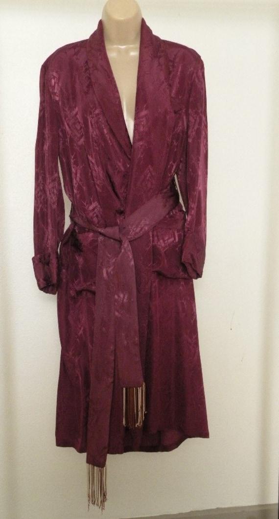 Satin Maroon Robe