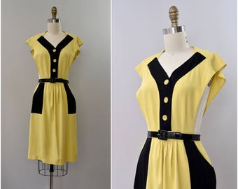 """1940's rare """"Jumperjack"""" pinafore rayon dress •  xs"""