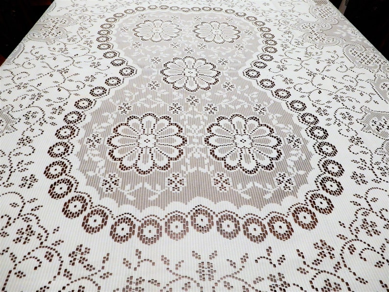 Lace Tablecloth Floral Tablecloth Dinner Tablecloth 82 x 60