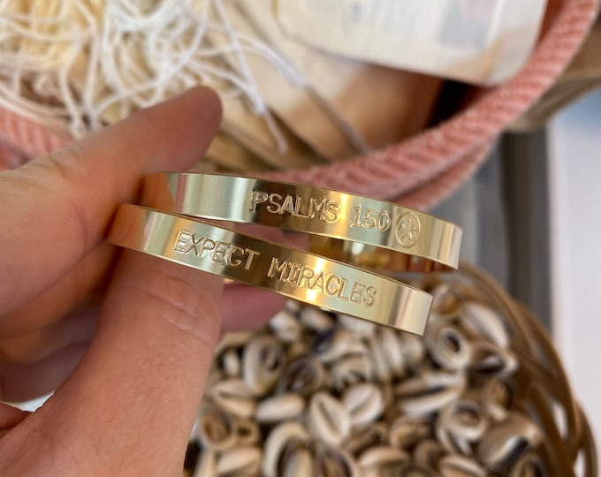 Customizable 14K Gold-Filled Cuff Bracelet