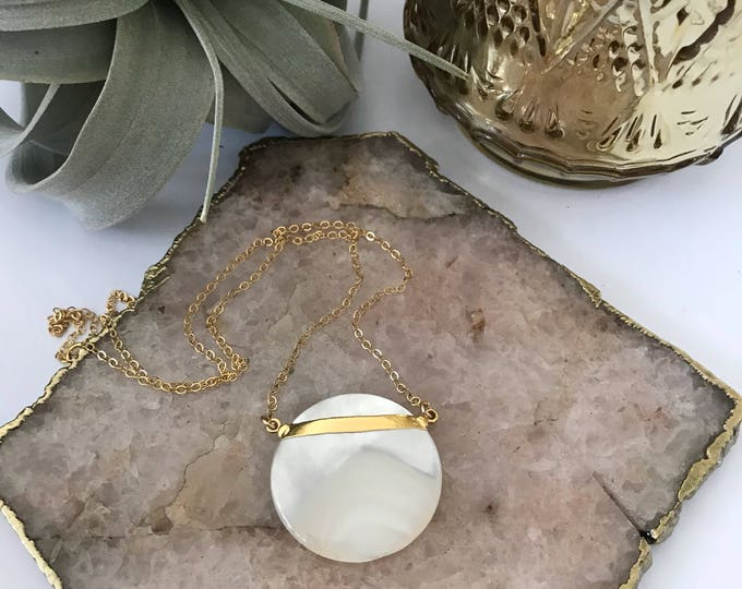 NEW! // Statement Coin Pearl Necklace