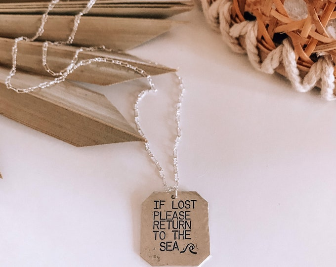 New! // Sterling Silver If Lost Return to the Sea Necklace