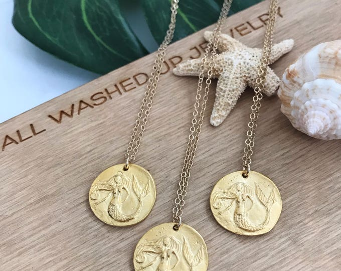 New! // Mermaid Coin Necklace