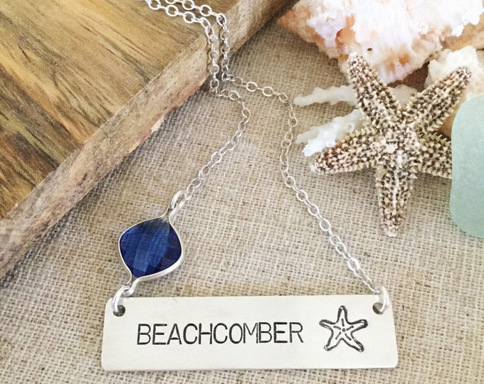Beachcomber Bar Necklace Starfish Beach Shells Mermaid Boho Outer Banks Seas The Day Sterling Silver