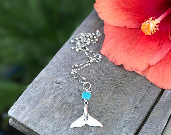 Silver Mermaid Tail Necklace