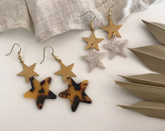 New! // Acrylic Star Earrings