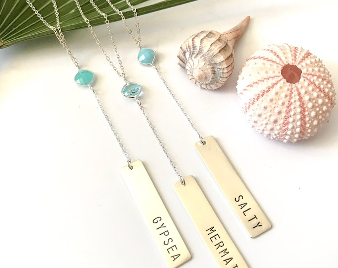 New! // Lariat Bar Necklace Mermaid Gypsea Salty