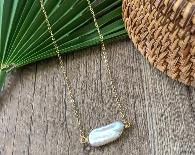 New! // Biwa Pearl Goldfill Layering Necklace