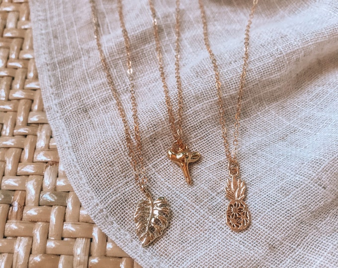New! Mini Gold Filled Charm Necklaces