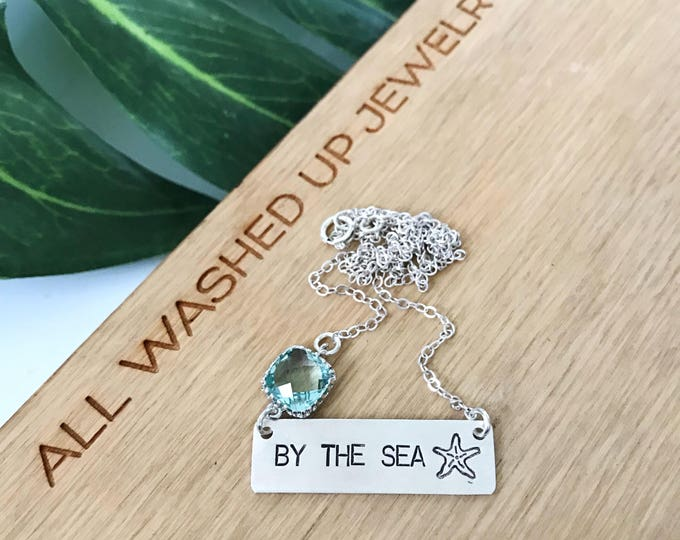 New! // By The Sea Sterling Silver Bar Necklace
