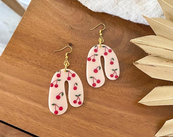 New! // Cherry Acrylic Earrings