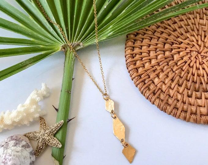 New! // Goldfill Diamond Trio Necklace