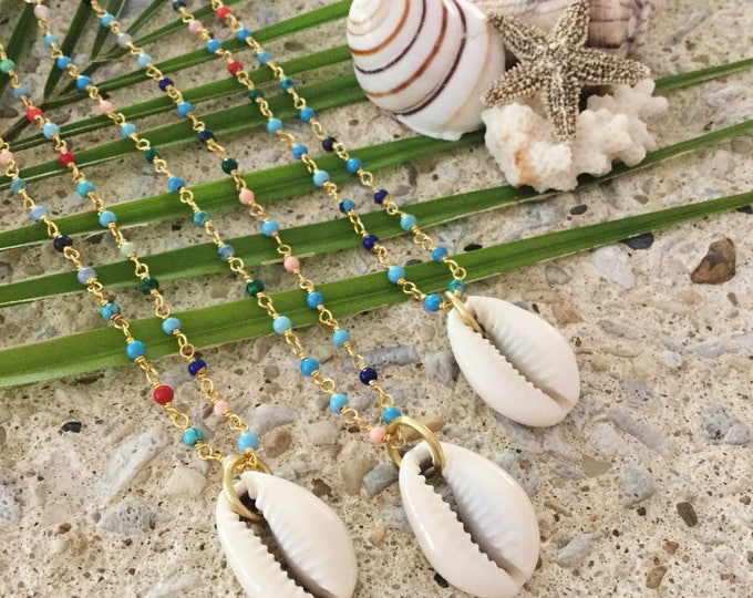 New! // Cowrie Shell Multicolor Choker