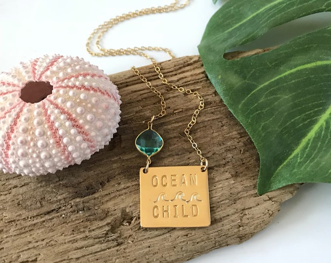 New! // Ocean Child Gold Fill Necklace