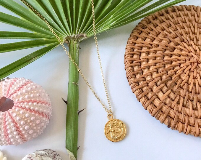 New! // Mini Mermaid Coin Necklace