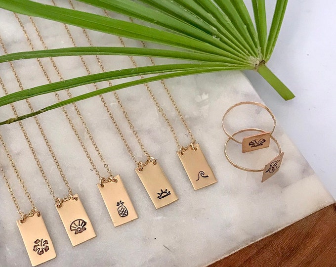New! // Gold Filled Tag Necklace