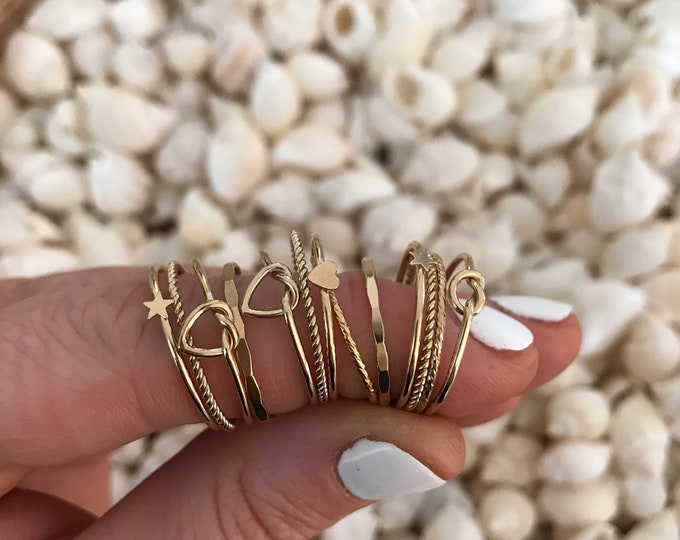 New! // 14kt Gold Filled Stacker Rings