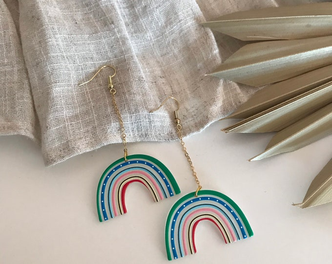 New! // Acrylic Rainbow Earrings