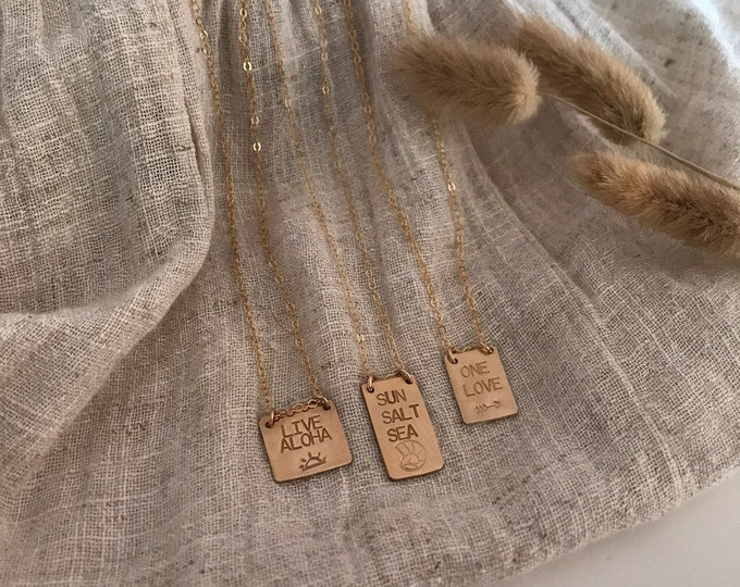 Gold Fill Mini Tags
