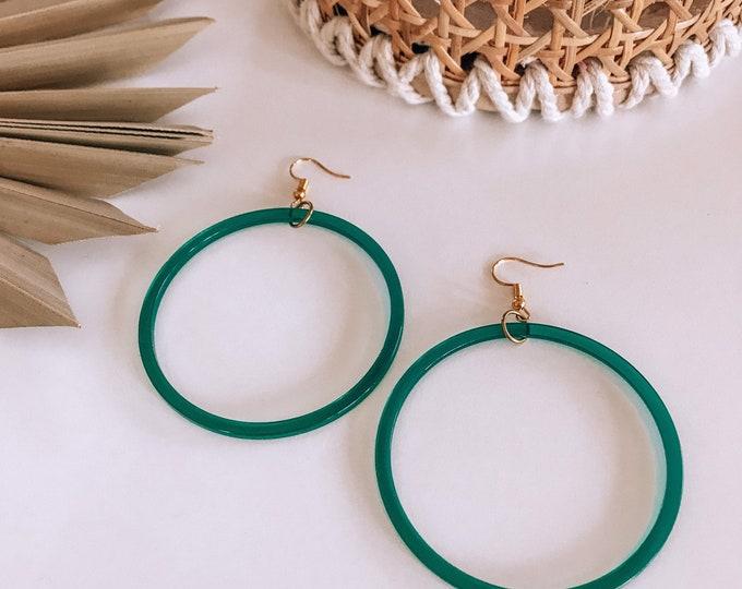 New! // Oversized Translucent Acrylic Hoop Earrings