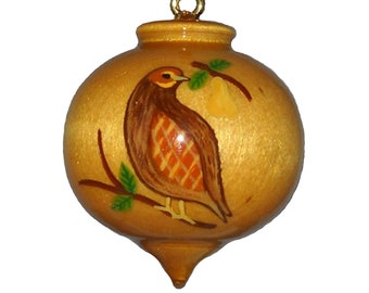 Partridge in a Pear Tree, Twelve Days of Christmas Ornament