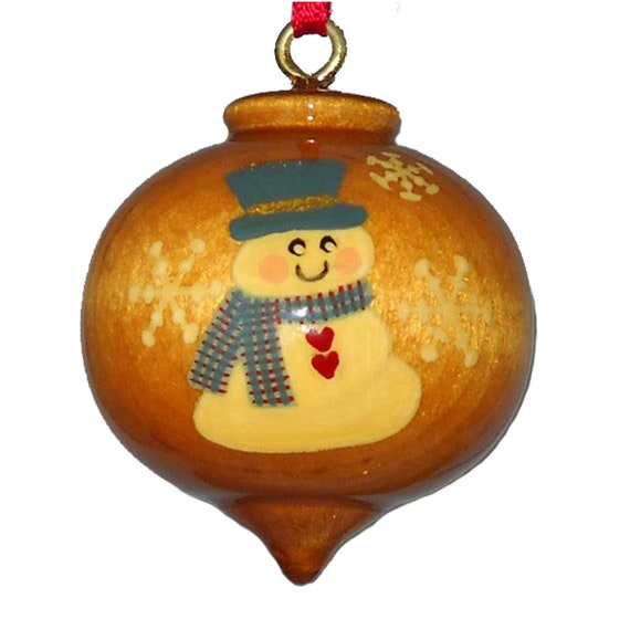 Personalized Ornament Wood Snowman Christmas Decoration   Etsy