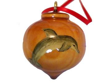 Dolphin Ornament, Marine Life Christmas Tree Decoration