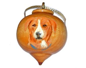 Custom Hand Painted Pet Ornament, Dog, Cat or Horse Portrait, Christmas Decoration