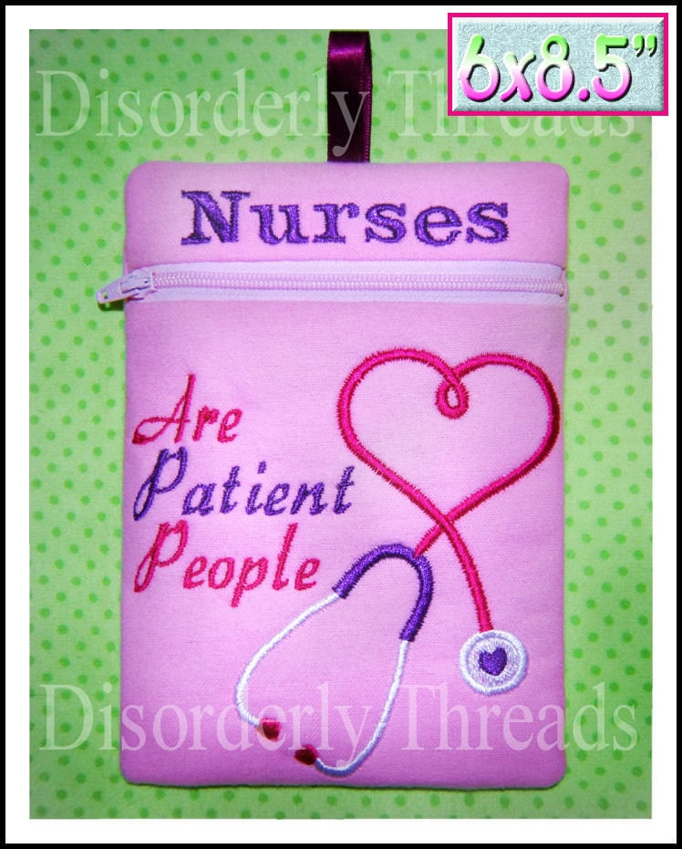 Nurses Are Patient People Zippered Bag 6X85 Xxx Vip  Etsy-6514