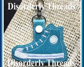Snap Tab Key High Top Shoe Tree Embroidery Design for Vinyl 4x4 Pes Dst Exp Hus Jef Vip  VP3 Xxx Formats  Machine Embroidery File