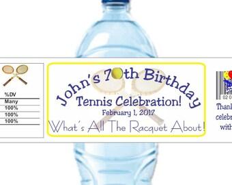Tennis Stickers, Tennis Birthday Label, Birthday Sticker, Retirement Party, Tennis Party Favors, DIY Tennis Label (Set of 24)(Y116)
