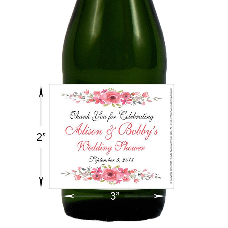 Floral Bridal Shower Wedding Shower Favors Wedding Stickers Peonies Set of 24 Spring Wedding Lw154 Custom Labels Wedding Favors