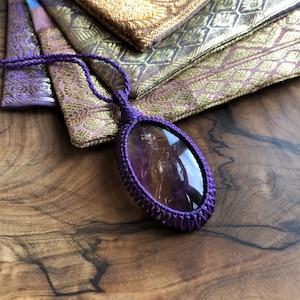 small pendant anneroza rutite stone macrame necklace rock rough crystal yoga gift Gemstone necklace gemstone necklace golden rutile