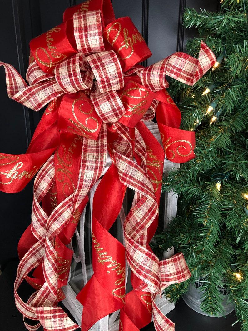 Christmas home decors Holiday Wreath Bow Christmas Wreath Bow Christmas Tree Topper