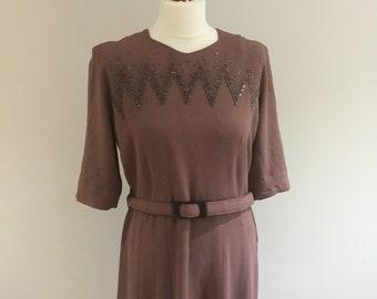 Original 1940s Dress - larger size.