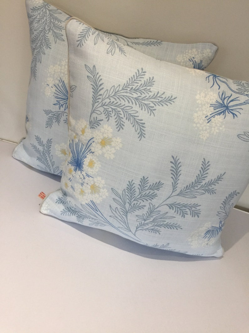 Square piped cushion/pillow cover   Laura Ashley Sandford  image 0