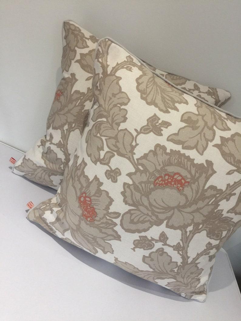 Square piped cushion/pillow cover   Laura Ashley Tamara  image 0