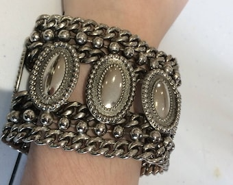 Original 1980s chunky metal bracelet