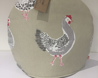 Teapot cosy - Roosters- Sage colour