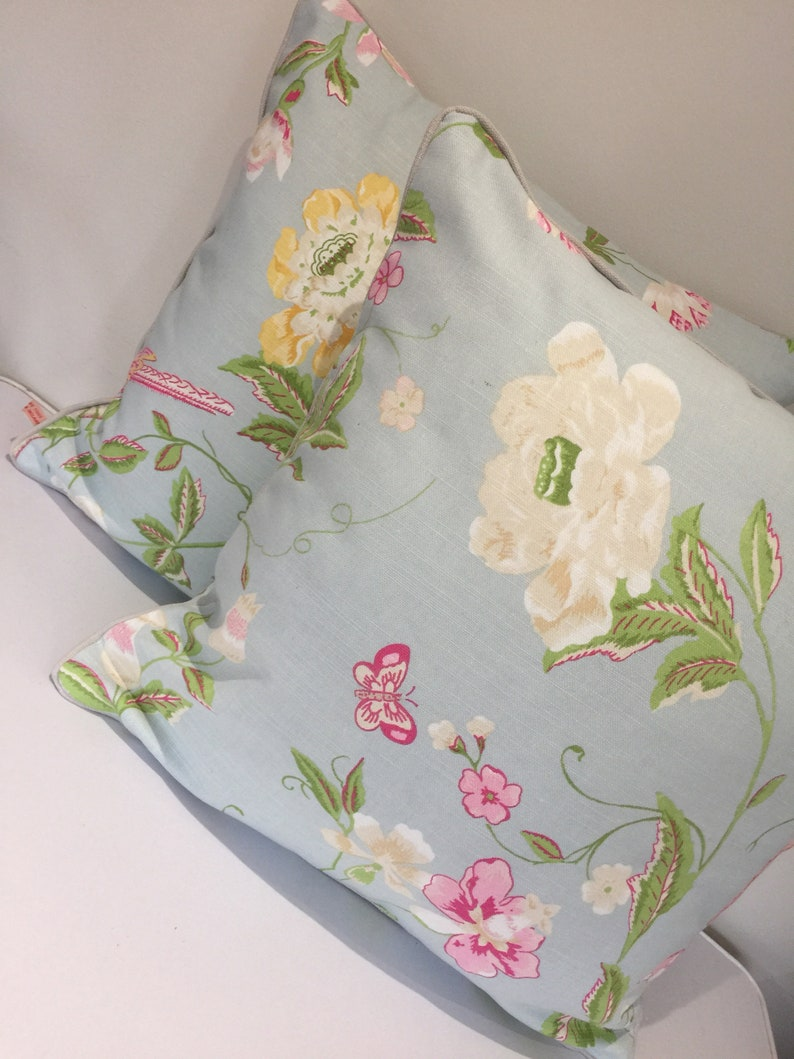 Square piped cushion/pillow cover   Laura Ashley Summer image 0