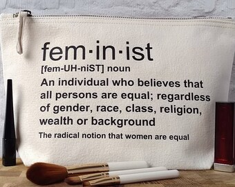 Feminist Accessory Bag, Nasty Woman Gift, Feminist Definition Gift, Feminism, Feminist Definition Quote, Feminist Gift, Feminist Gift Ideas