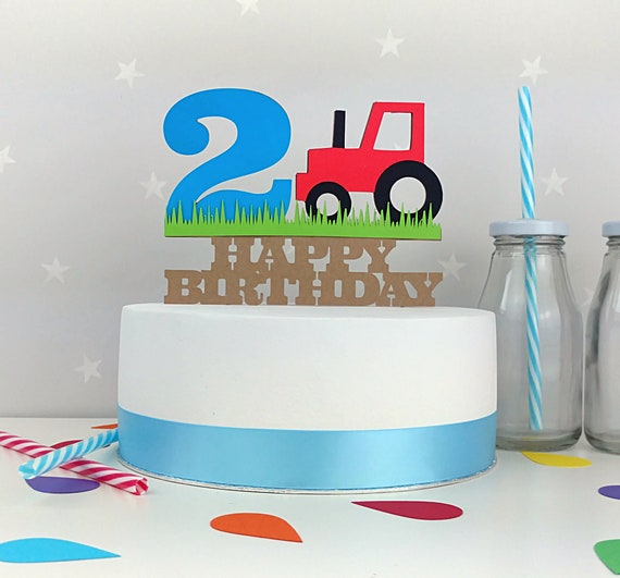 First Birthday Cake Topper 1st Farm
