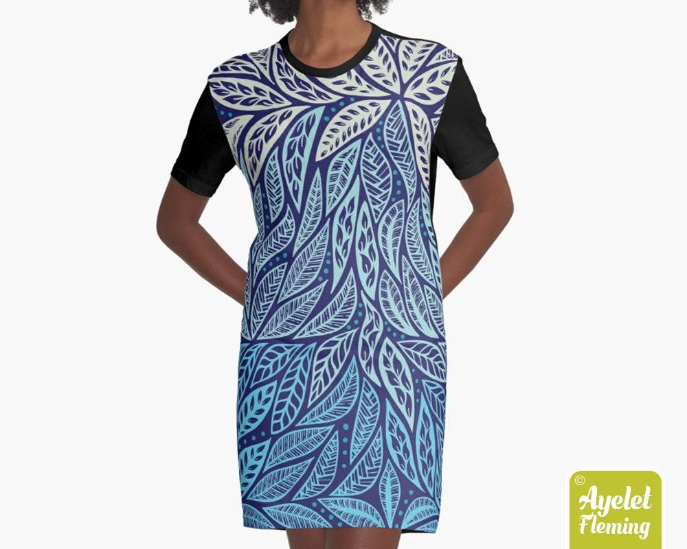 Polynesian Dresses For Women Tribal T Shirt Dress Hawaiian Etsy