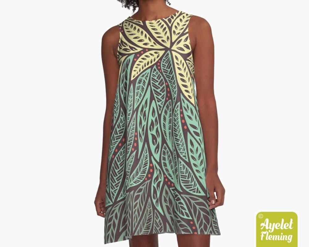 Polynesian Tribal Dress Hawaiian Dress Floral Dress Women