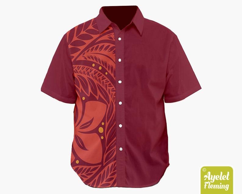 3d028e25 Hawaiian shirt men Polynesian tribal shirt Couples shirts   Etsy