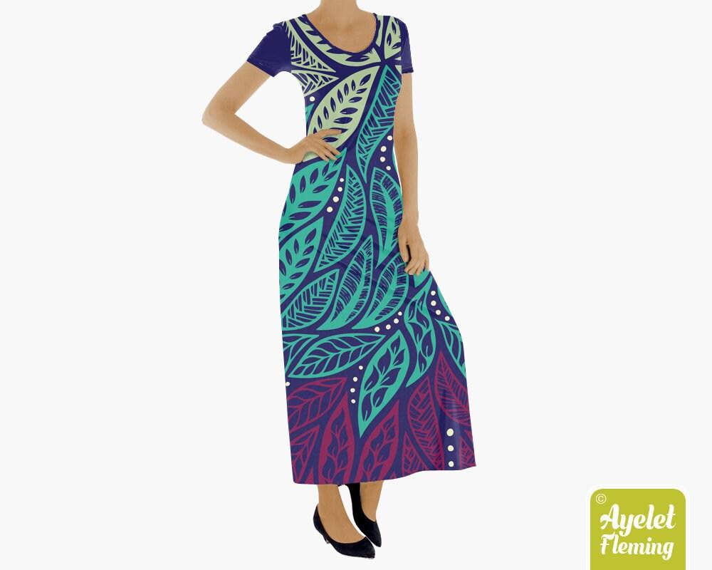 Muumuu hawaiian dress women Polynesian long dresses for women | Etsy