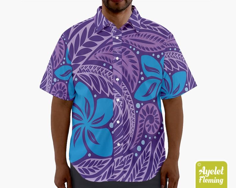 226c1ae1 Hawaiian shirt Polynesian shirt Tribal shirt Couples shirts   Etsy